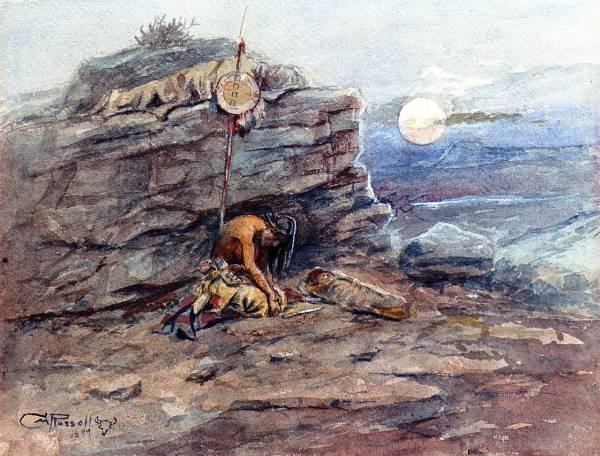 Mourning Her Warrior Dead